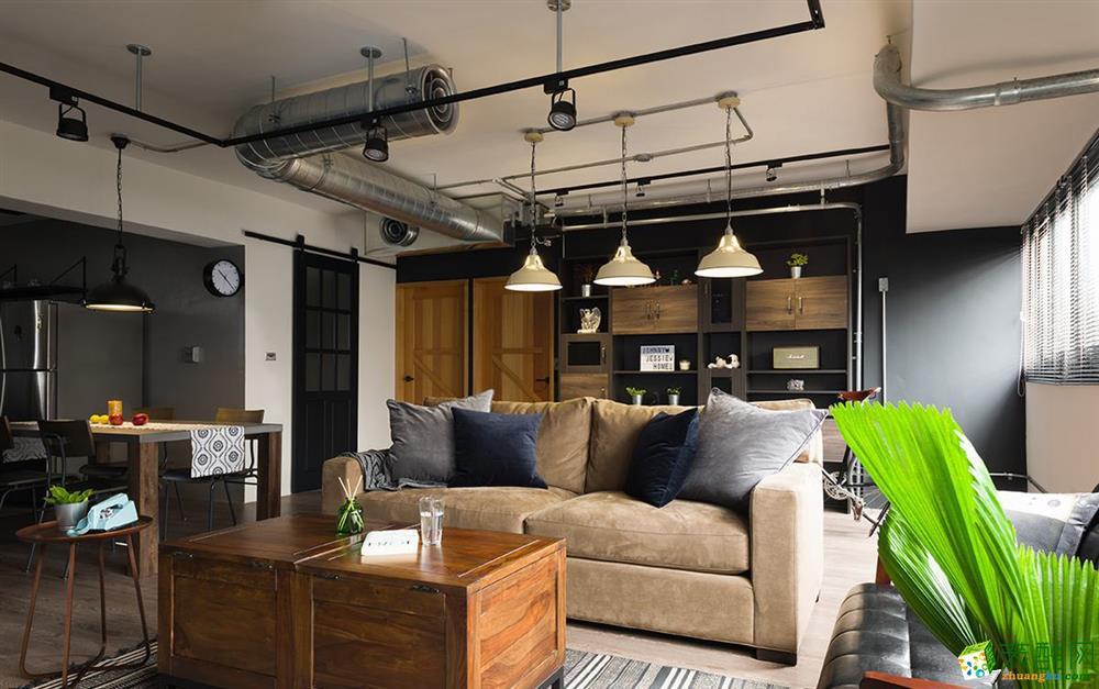 164平米工业风格四室两厅装修案例图|铭坊易家装饰
