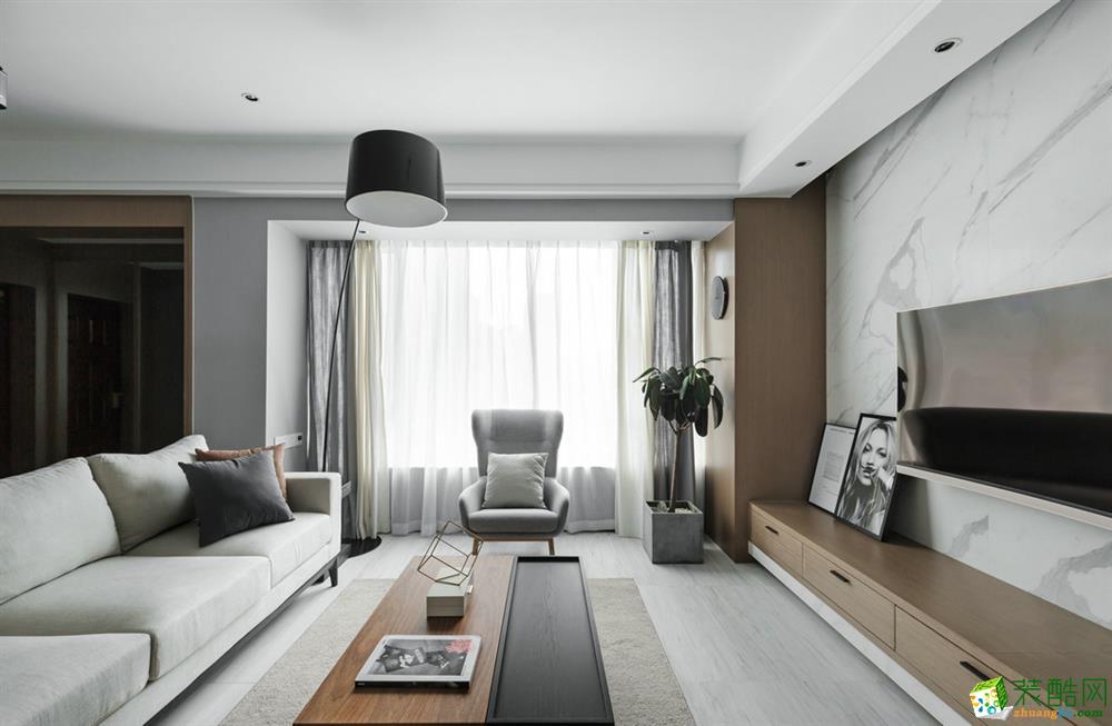 现代简约风格120平米四室两厅装修案例图|铭坊易家装饰