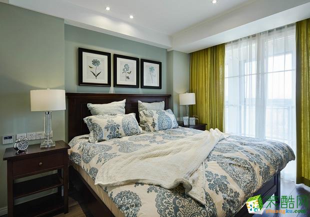 三室兩廳 100平米 美式風格 裝修效果圖