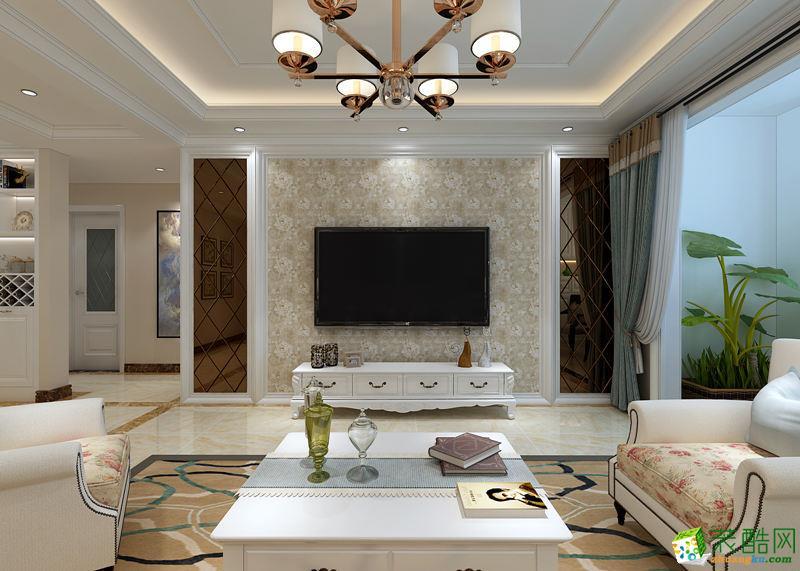 长沙新浪装饰-欧式三居室装修效果图