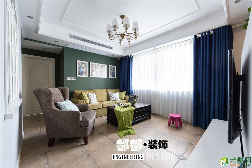 都都装饰―晨光国际89方三室两厅装修设计效果图