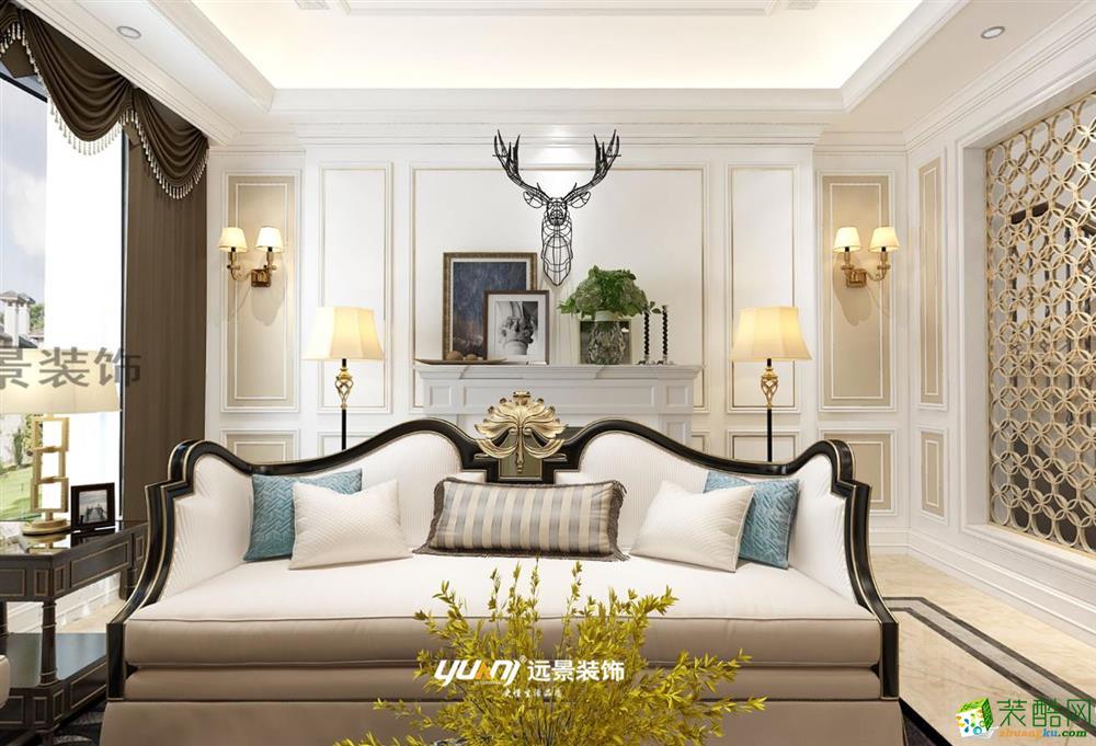 华侨城天澜美墅350平米美式别墅装修案例图|远景装饰