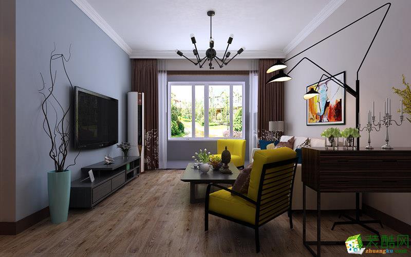 济南居联峰尚装饰-现代简约两居室装修效果图