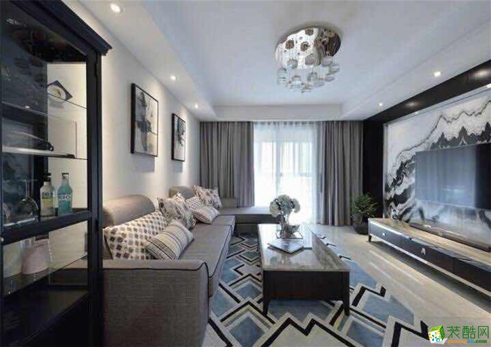 华格装饰―瞰湖花园130方现代风格四室两厅装修设计效果图