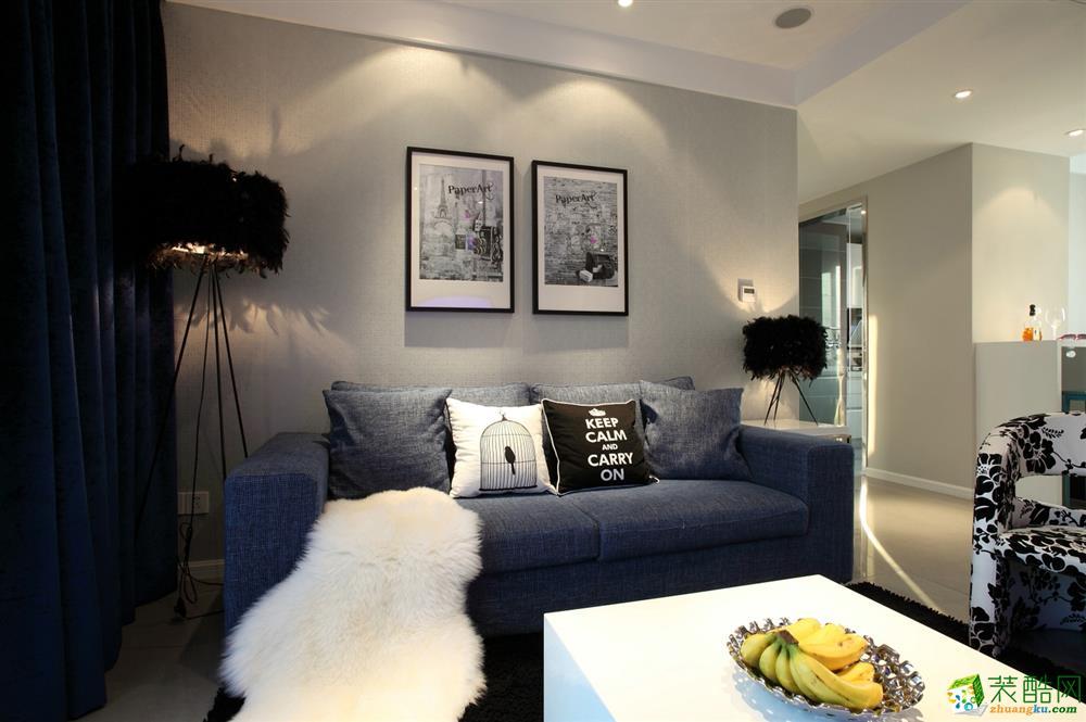 现代简约风格89平米两室两厅装修案例图|生活家装饰