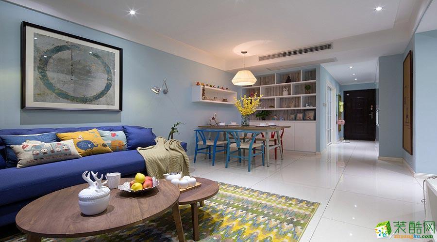 丰立装饰---北欧风格98平米两室两厅装修案例效果图