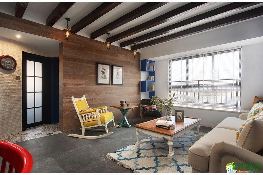 【武汉方林装饰】132方简约美式风格三居室装修设计效果图