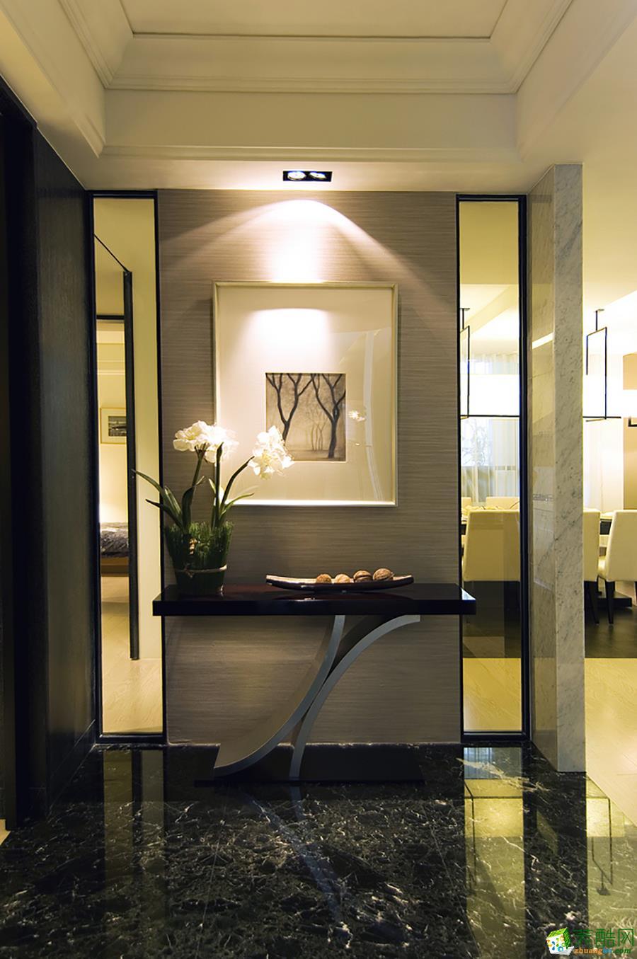 【武汉方林装饰】140方港式简约风格四居室装修设计效果图