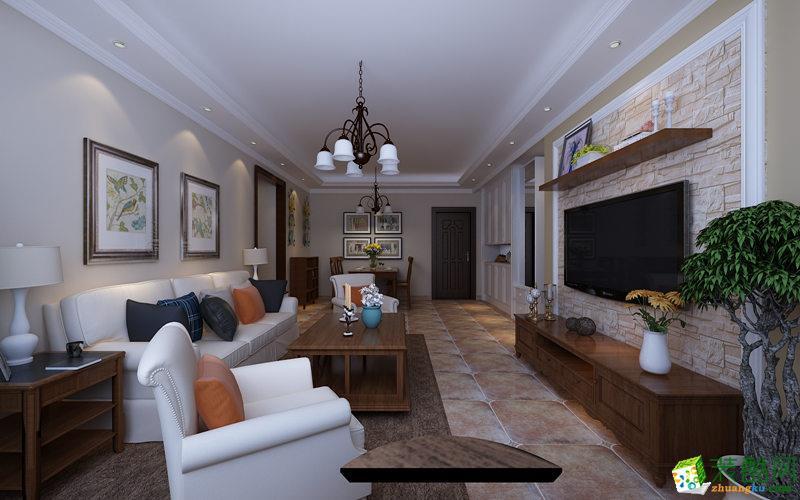 长沙大千装饰-美式三居室装修效果图