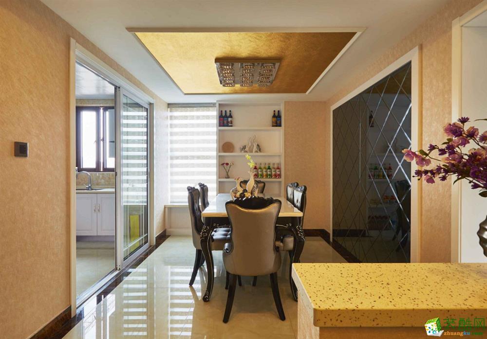 三室两厅 105平米 欧式风格 装修效果图