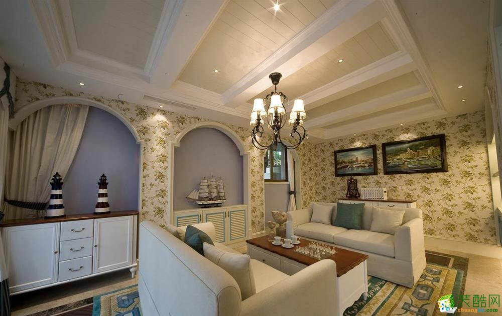 三室两厅 110平米 美式风格 装修效果图