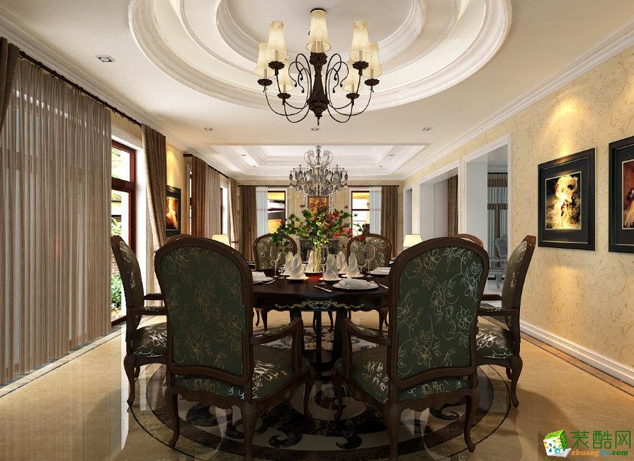 三室两厅|102平米|美式风格|装修效果图