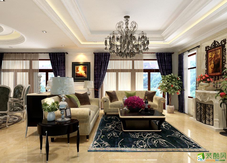 三室两厅 102平米 美式风格 装修效果图