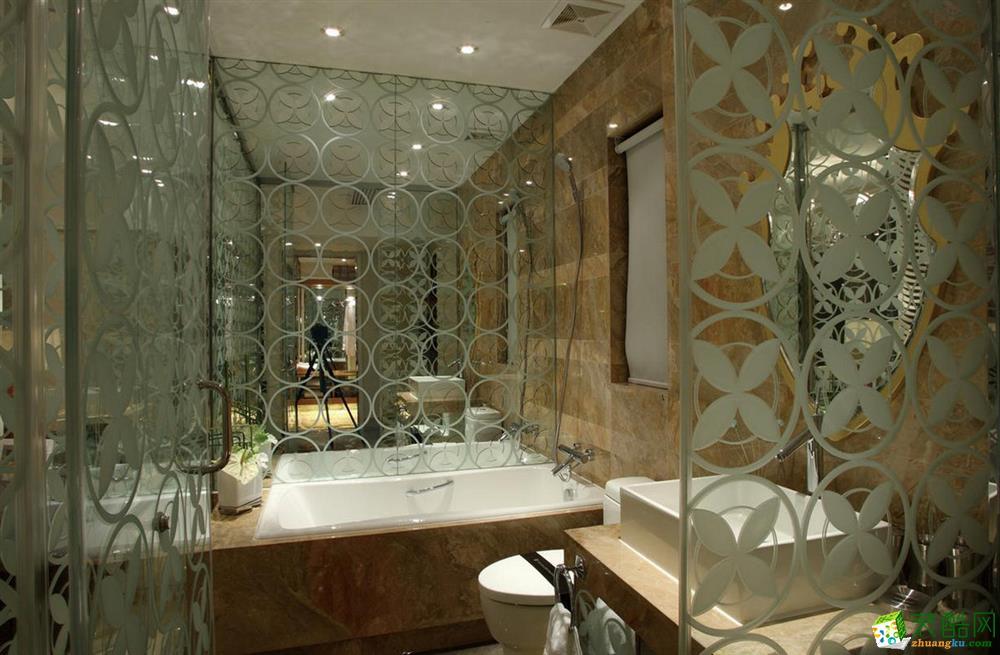 卫浴 三室两厅|100平米|欧式风格|装修效果图 【锦华装饰】欧式风格|三室两厅|紫金朝阳府
