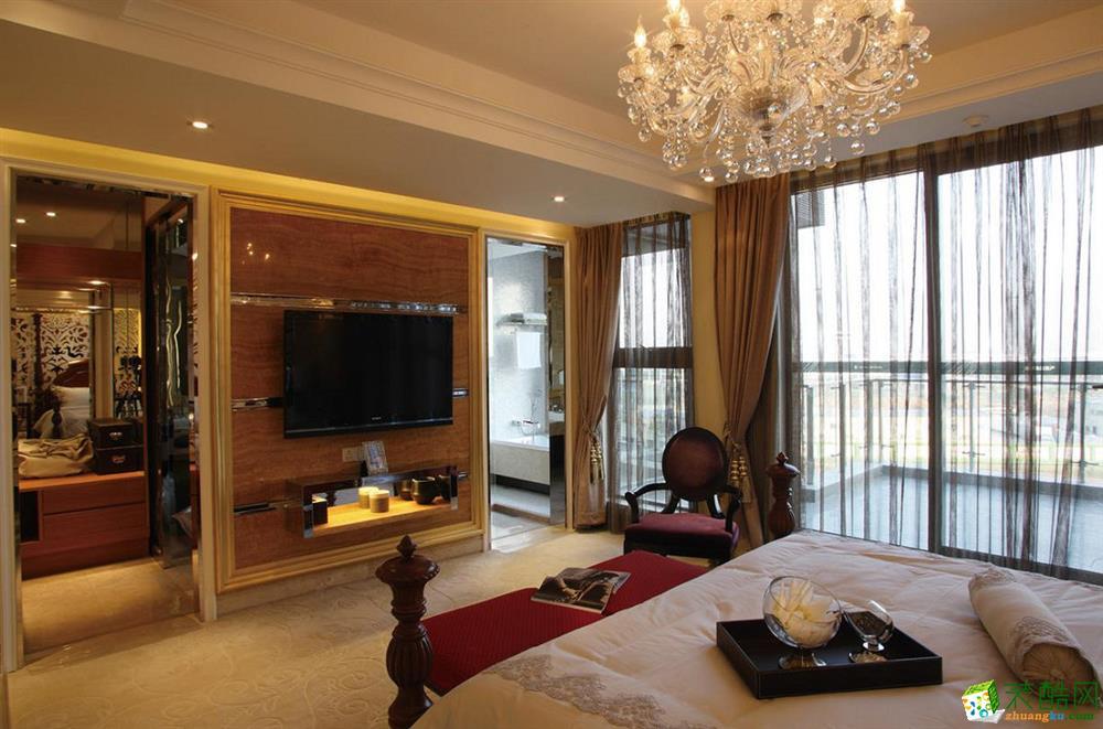 客厅 三室两厅|100平米|欧式风格|装修效果图 【锦华装饰】欧式风格|三室两厅|紫金朝阳府