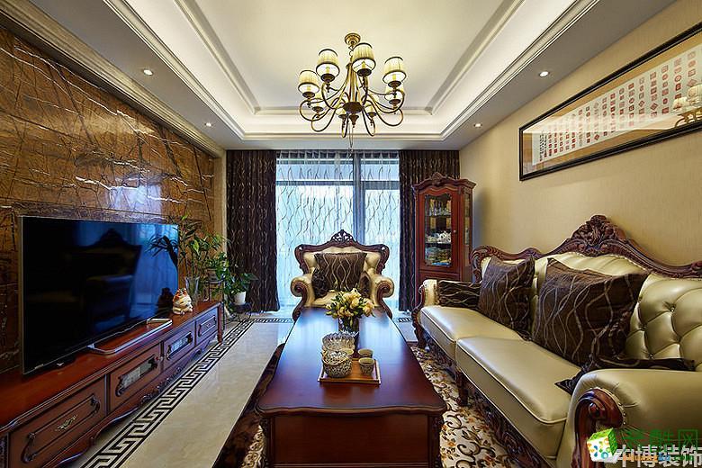 武汉中博装饰―130方简欧风格三室两厅装修设计效果图