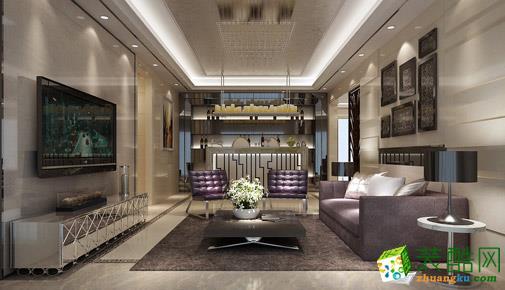武汉名匠装饰―120方简约欧式风格三居室装修设计效果图