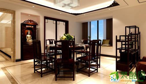 武汉名匠装饰―106方新中式风格三居室装修设计效果图