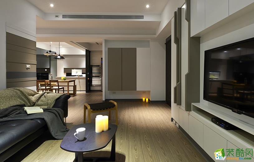 97平米现代简约风格两室两厅装修案例图|大名装饰