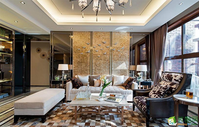 现代简约风格207别墅住宅装修案例图|晴星装饰