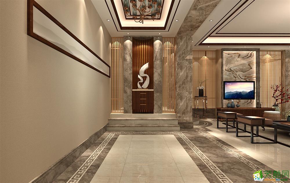 [武漢方林裝飾]150方中式風格三居室裝修設計效果圖