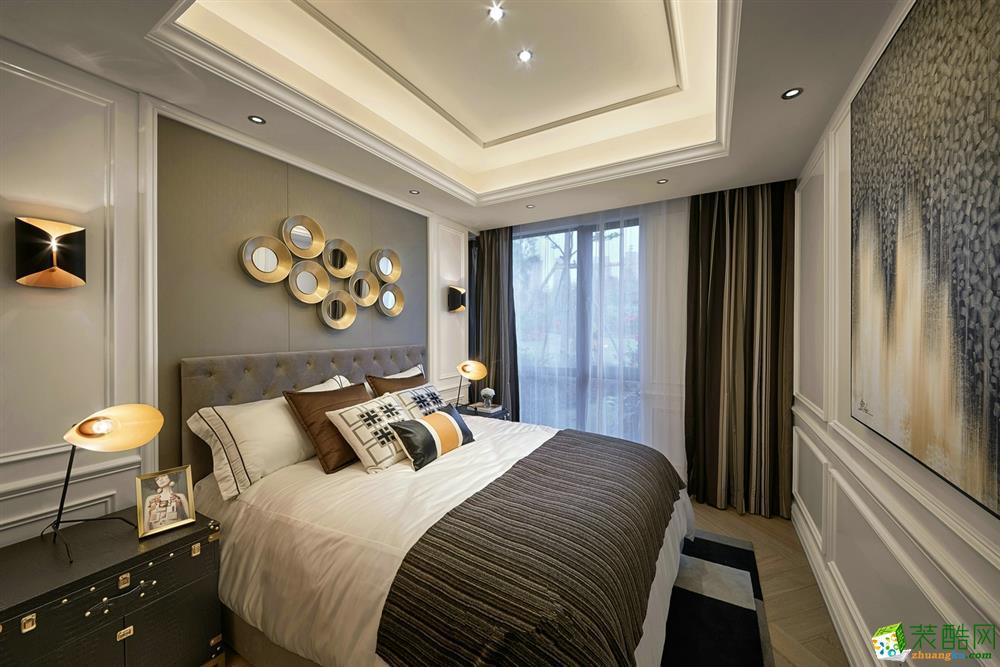 [武汉方林装饰]120方现代都市混搭风格三居室装修设计效果图