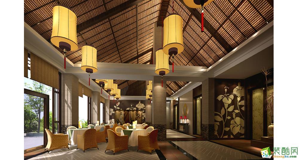 500平米原木系田园风格酒楼餐厅装修案例图|图普瑞装饰