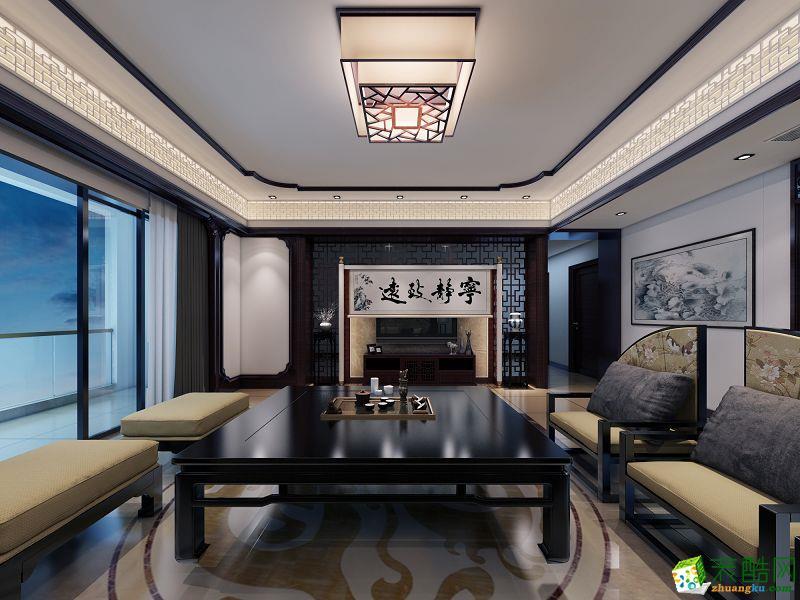 中式风格165平米跃层住宅装修案例图|禹典装饰