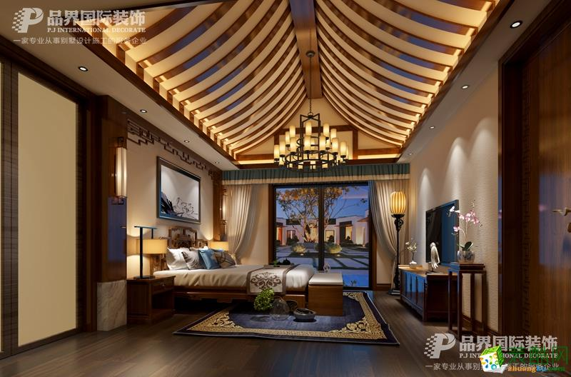 重庆保利小泉800平米中式风格别墅装修五分时时彩---品界装饰