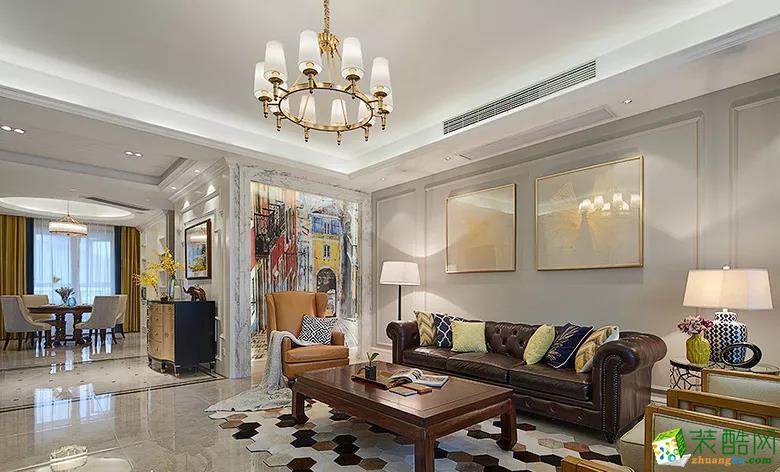 【木林森装饰】145�O新古典雅致风格三室装修效果图