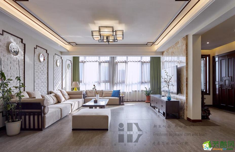 【一度装饰】白鹭名邸260�O新中式风格装修效果图
