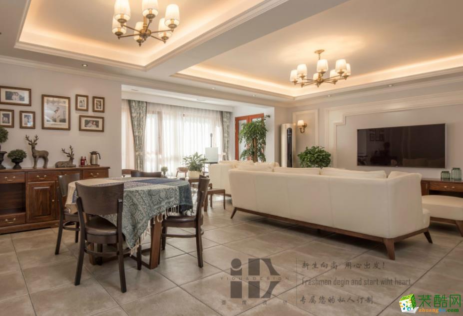 【一度装饰】张浦沙溪别墅160�O美式风格装修效果图