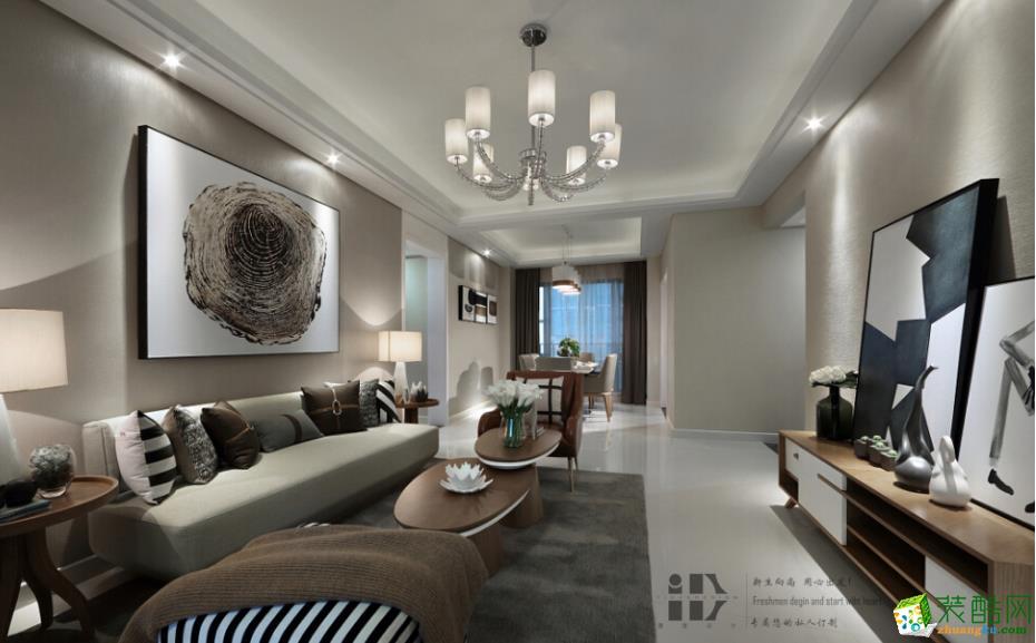 【一度装饰】北大资源理成现代简约风格三居装修效果图