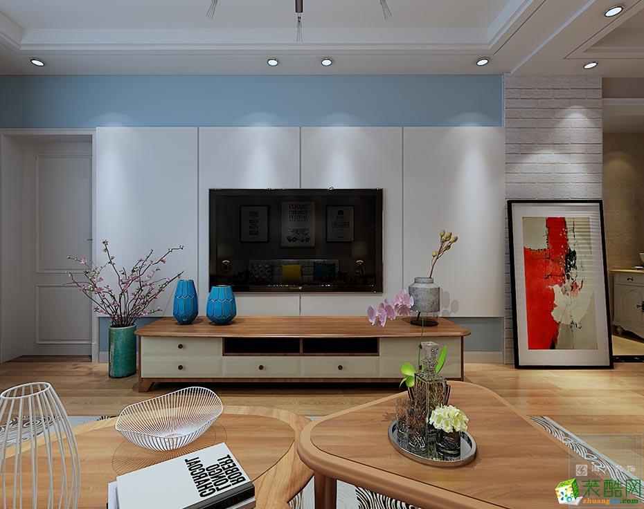 花果园113平米北欧风格三室两厅装修案例图|海大装饰