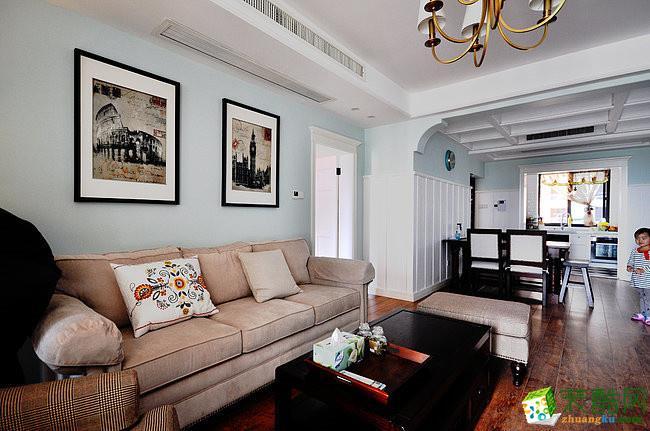 【天世居装饰】华商悦江府114平米美式三居室