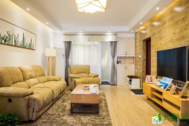 130平米混搭风格三室两厅装修案例图|吉家装饰