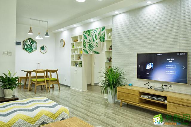 80平米现代简约风格两室两厅装修案例图|