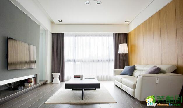 客厅 采光下客厅效果图 昆明莱阁装饰-100平现代二居室