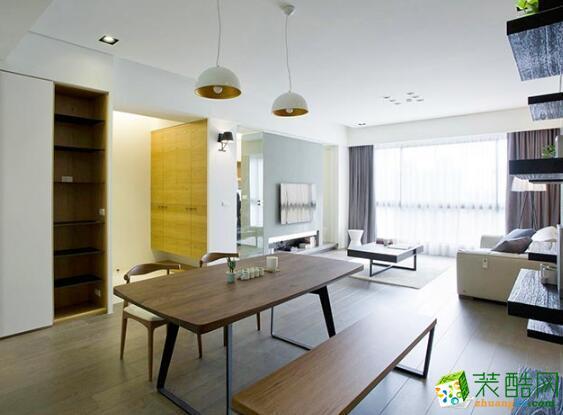 客厅 餐厅效果图 昆明莱阁装饰-100平现代二居室