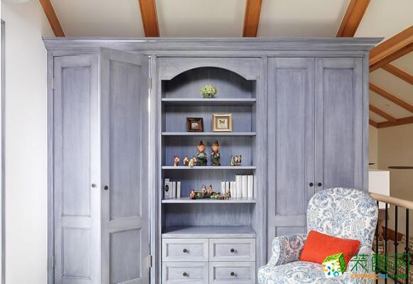 复古简欧风紫色衣柜效果图图