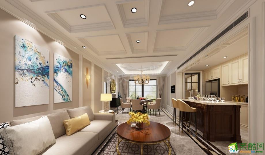 天古装饰---两江新宸旭城450平米混搭风格别墅花园装修案例图赏析
