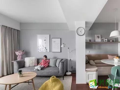 【言午装饰】101�O小美风格三室装修效果图