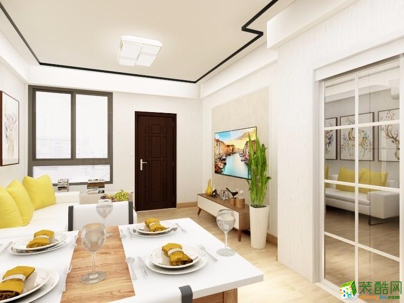 两室一厅|60平米|现代风格|装修效果图
