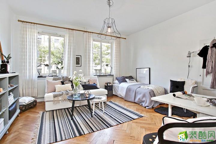 现代简约风格30平米一居室装修案例图|海大装饰