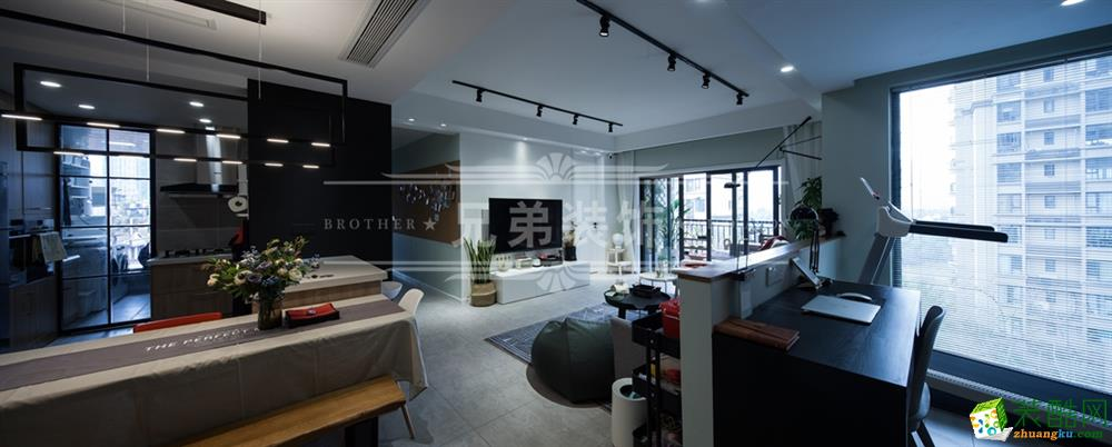保利高尔夫华庭140平米装修设计案例图赏析|兄弟装饰