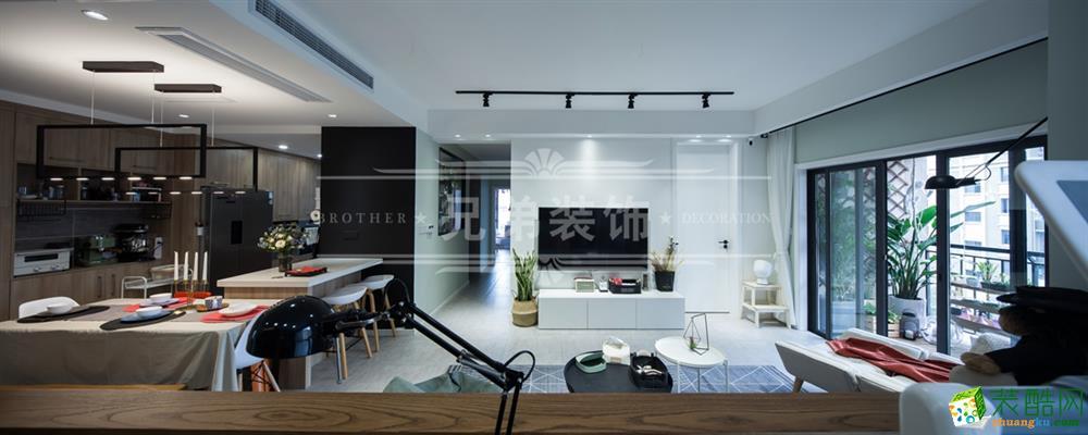 保利高尔夫华庭140平米装修设计案例图赏析 兄弟装饰