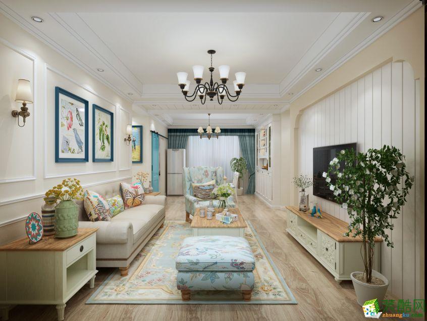 扬州红苹果装饰-美式乡村三室装修效果图