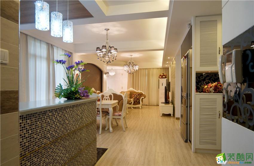 【武汉澳华装饰】大华南湖世家160方四室简欧风格装修效果图