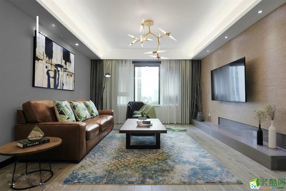 点石装饰--80平米现代简约风格两室两厅装修实景案例图
