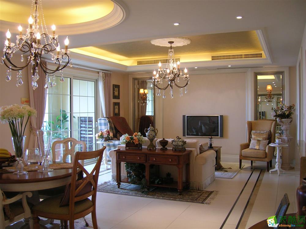 超世装饰--100平米欧式风格三室两厅装修实景案例图